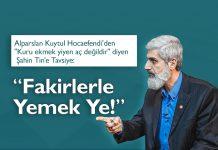 AKP Milletvekili Şahin Tin'e Tavsiye: Fakirlerle Yemek Ye!
