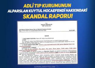 Başkasına Ait Konuşma ile ilgili Adli Tıp Kurumunun Alparslan Kuytul Hocaefendi Hakkındaki Skandal Raporu!