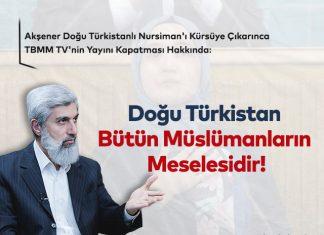 Akşener Doğu Türkistanlı Nursiman'ı Kürsüye Çıkarınca TBMM TV'nin Yayını Kapatması Hakkında