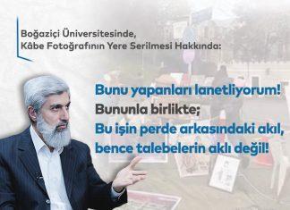 Boğaziçi Üniversitesi Önünde Kabe Fotoğrafı Serilmesi Hakkında